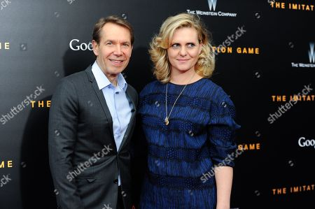 """Jeff Koons and Justine Koons attend the premiere of """"The Imitation Game"""" at Ziegfeld Theatre, in New York"""
