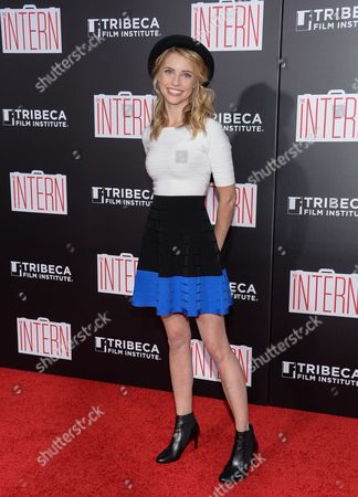 "Wallis Currie-Wood attends the premiere of ""The Intern"" at the Ziegfeld Theatre, in New York"