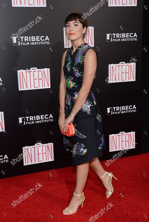 "Stock Photo of Christina Scherer attends the premiere of ""The Intern"" at the Ziegfeld Theatre, in New York"