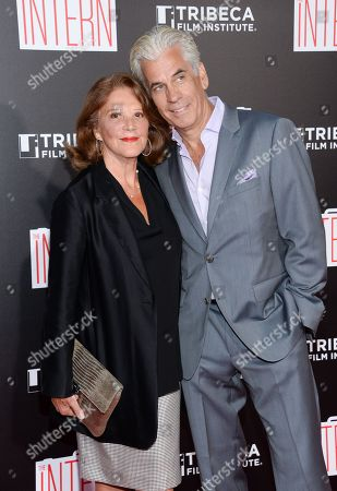 """Stock Photo of Actress Linda Lavin and husband Steve Bakunas attend the premiere of """"The Intern"""" at the Ziegfeld Theatre, in New York"""