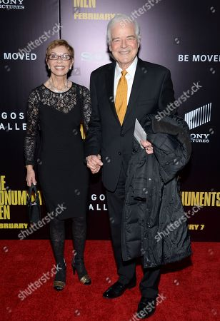 """Director and actor George Clooney's parents Nina and Nick Clooney attend the premiere of """"The Monuments Men"""" at the Ziegfeld Theatre, in New York"""