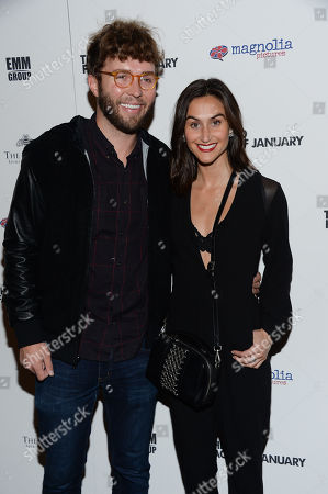 """Timo Wieland and Jodie Snyder attend the premiere of """"The Two Faces of January"""" at the Landmark Sunshine Theater, in New York"""