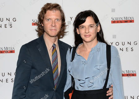 "Director Jake Paltrow and wife Taryn Simon attend the ""Young Ones"" premiere at the Landmark Sunshine, in New York"