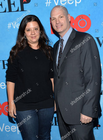 """Stock Picture of Stephanie Laing, left, and Christopher Godsick attend the premiere of HBO's """"Veep"""" season four at the SVA Theater, in New York"""