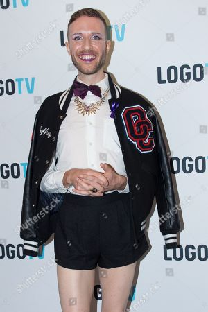 """Jeffrey Marsh attends the premiere screening of the MTV and Logo TV documentary """"Laverne Cox Presents: The T Word"""" at the Paramount Screening Room, in New York"""