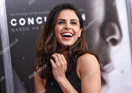 "Azita Ghanizada attends a special screening of ""Concussion"" at the AMC Loews Lincoln Square, in New York"