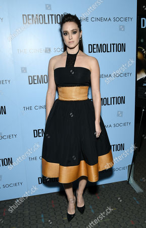 "Actress Heather Lind attend a special screening of ""Demolition"" at the SVA Theatre, in New York"