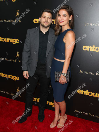 "Jerry Ferrara, left, and Breanne Racano, right, attend a special screening of ""Entourage"" at The Paris Theater, in New York"