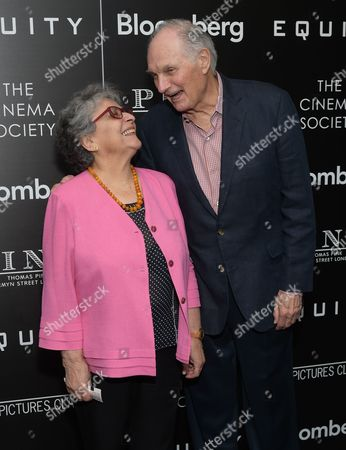 """Actor Alan Alda and wife Arlene Alda attend a special screening of """"Equity"""", hosted by The Cinema Society and Bloomberg, at the Museum of Modern Art, in New York"""