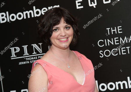 """Writer Amy Fox attends a special screening of """"Equity"""", hosted by The Cinema Society and Bloomberg, at the Museum of Modern Art, in New York"""
