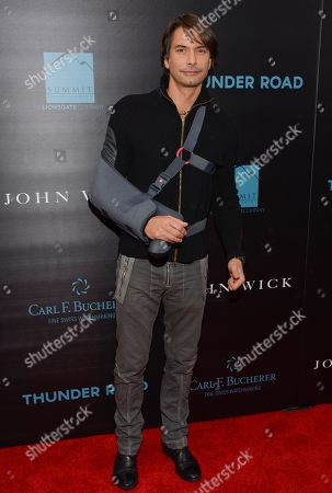 """Marcus Schenkenberg attends a special screening of """"John Wick"""" at the Regal Union Square, in New York"""