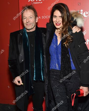 """Musician Simon Kirke and Maria Angelica attend a special screening of """"Julieta"""", hosted by Sony Pictures Classics and The Cinema Society, at Landmark Sunshine Cinema, in New York"""