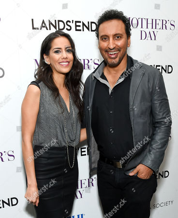 """Actors Sheetal Sheth, left, and Aasif Mandvi attend the special screening of """"Mother's Day"""" at Metrograph, in New York"""