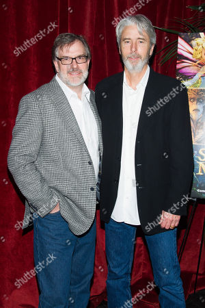 """Gary Rydstrom, left, and Mark Miler attend a special screening of """"Strange Magic"""" hosted by The Cinema Society and Lucasfilm, in New York"""