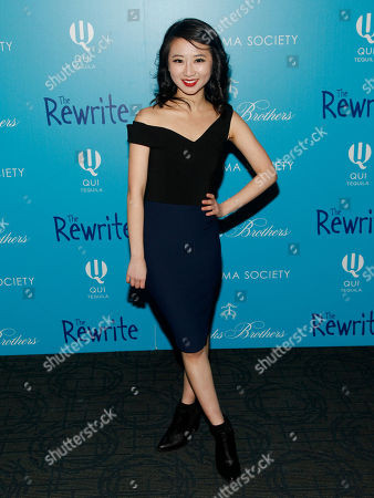 """Stock Image of Annie Q attends a screening of """"The Rewrite"""" at Landmark Sunshine Cinema, in New York"""