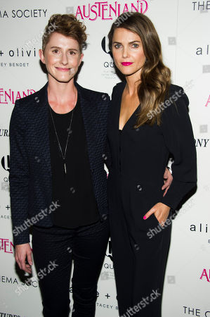 "Writer and director Jerusha Hess, left, and actress Keri Russell attend a screening of Sony PIctures Classics' ""Austenland"" hosted by the Cinema Society with Alice and Olivia, in New York"