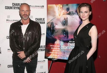 "Stock Image of Director Fredrik Bond, left, and actress Evan Rachel Wood, right, attend a screening of ""Charlie Countryman"", in New York"