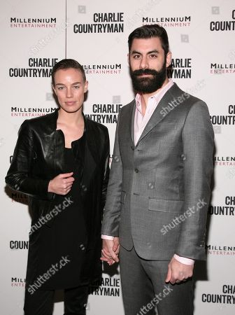 """Stock Image of Fashion model Elliot Sailors, left, and Adam Santos-Coy, right, attend a screening of """"Charlie Countryman"""" on in New York"""