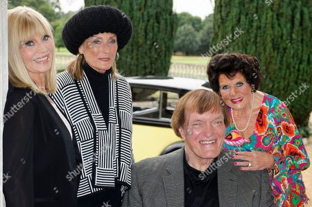 Actors, from left, Britt Ekland, Tania Mallet, Richard Kiel and Eunice Gayson pose at a photocall for the Bond 50 anniversary, in London. Kiel, the towering actor best known for portraying steel-toothed villain Jaws in a pair of James Bond films, has died. He was 74