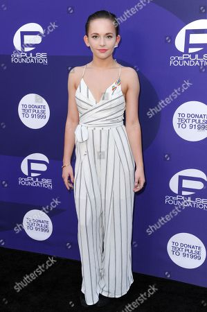 Alexis G. Zall attends the onePULSE Foundation Benefit for Orlando at NeueHouse Hollywood, in Los Angeles
