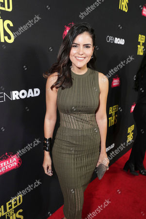 """Betsy Landin seen at Open Road Films Los Angeles Premiere of """"Bleed for This"""" at Samuel Goldwyn Theater, in Beverly, Hills, Calif"""