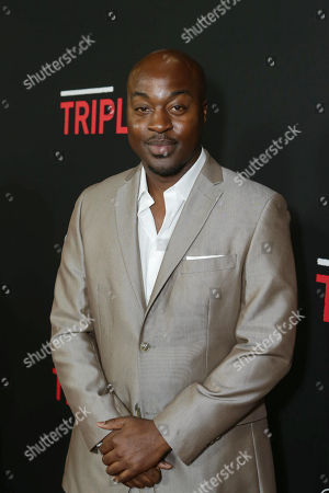 Labrandon Shead seen at Open Road's 'Triple 9' Los Angeles Premiere at Regal L.A. Live, in Los Angeles, CA