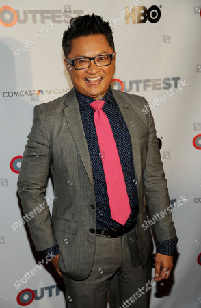 Fusion Achievement Award winner Alec Mapa poses at the Outfest 2014 Fusion LGBT People of Color Film Festival, in Los Angeles