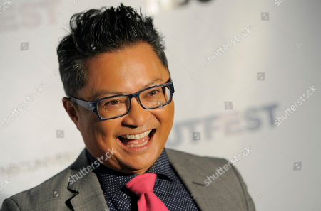 Fusion Achievement Award winner Alec Mapa poses at the Outfest 2014 Fusion Gala, in Los Angeles