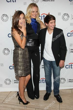 Stock Photo of From left, actors Bailee Madison, Malin Akerman and Ryan Scott Lee arrive at the PaleyFest Previews: Fall TV show 'Trophy Wife' at The Paley Center for Media on in Beverly Hills, Calif