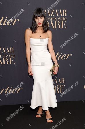 Fashion blogger Athena Calderone attends the Panthere de Cartier Collection dinner & party at Skylight Clarkson Studios, in New York