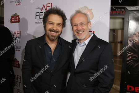 Stock Image of NOVEMBER 09: Producer/Director/Writer Ed Zwick and Producer Pieter Jan Brugge at Paramount Vantage Premiere of 'Defiance' at the 2008 AFI Fest Closing Night Gala on at the Cinerama Dome in Hollywood, CA