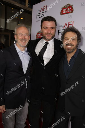 NOVEMBER 09: Producer Pieter Jan Brugge, Liev Schreiber and Producer/Director/Writer Ed Zwick at Paramount Vantage Premiere of 'Defiance' at the 2008 AFI Fest Closing Night Gala on at the Cinerama Dome in Hollywood, CA
