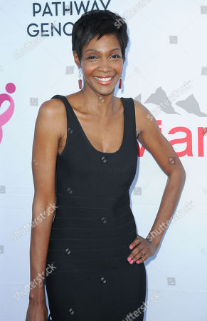 Stock Image of Roshumba Williams arrives at Pathway to the Cure Benefit at Santa Monica Airport, in Santa Monica, CA