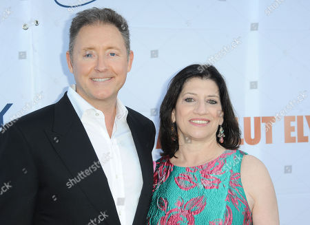 Stock Image of Jim Plante, Dr. Judith Salerno arrives at Pathway to the Cure Benefit at Santa Monica Airport, in Santa Monica, CA