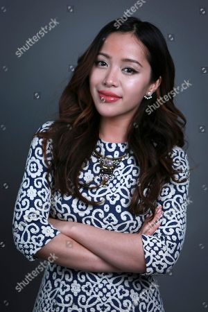 Stock Image of YouTube personality best known for her make-up demonstrations, Michelle Phan poses for a portrait in New York. Phan launched a digital lifestyle network called ICON