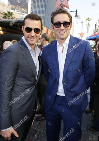 Richard Armitage and Lee Pace seen at a ceremony honoring Peter Jackson with a star on The Hollywood Walk Of Fame, in Los Angeles, CA