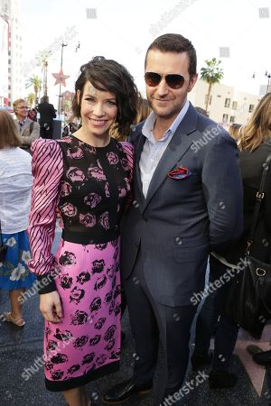 Evangeline Lilly and Richard Armitage seen at a ceremony honoring Peter Jackson with a star on The Hollywood Walk Of Fame, in Los Angeles, CA
