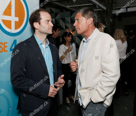 Stock Picture of Phase 4's Berry Meyerowitz and Home Media's Thomas Arnold attend the Phase 4 Films Annual Cocktail Party on in Los Angeles