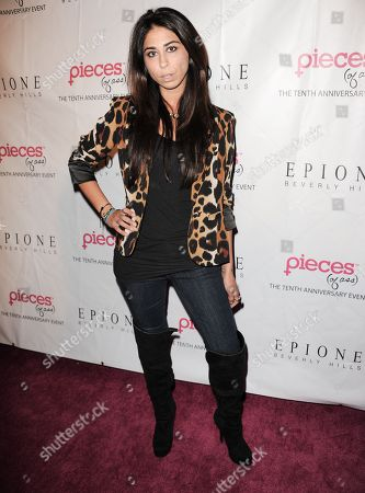 "Courtenay Semel arrives at the ""Pieces (of ass)"" 10th Anniversary celebration at the Fonda Theatre on in Los Angeles"