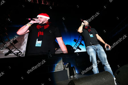 Stock Picture of DJ Felli Fel speaks on stage at Power 106's 'Cali Christmas' 2015 held at The Forum on Friday, December, 4, 2015, in Inglewood, Calif