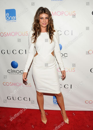 "Model Angela Martini attends the premiere of ""Cosmopolis"" at the Museum of Modern Art on in New York"