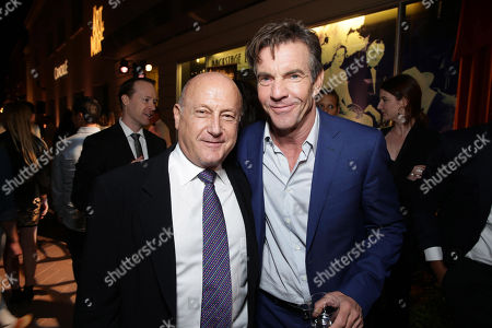 Executive Producer Laurence Mark and Dennis Quaid seen at Los Angeles Premiere for Crackle's 'The Art of More' at Sony Pictures, in Los Angeles, CA