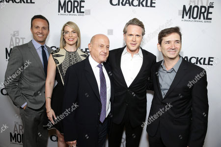 Eric Berger, GM of Crackle, Executive Producer Tamara Chestna, Executive Producer Laurence Mark, Cary Elwes and Creator/Writer/Executive Producer Chuck Rose seen at Los Angeles Premiere for Crackle's 'The Art of More' at Sony Pictures, in Los Angeles, CA