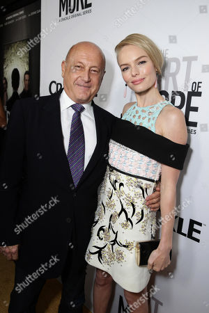 Executive Producer Laurence Mark and Kate Bosworth seen at Los Angeles Premiere for Crackle's 'The Art of More' at Sony Pictures, in Los Angeles, CA