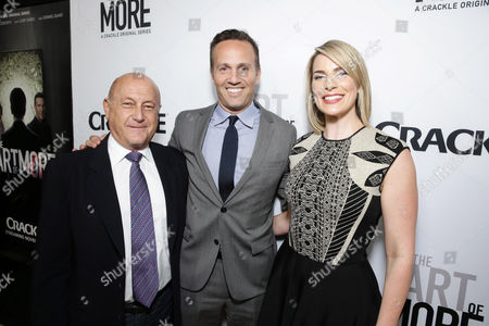 Executive Producer Laurence Mark, Eric Berger, GM of Crackle, and Executive Producer Tamara Chestna seen at Los Angeles Premiere for Crackle's 'The Art of More' at Sony Pictures, in Los Angeles, CA