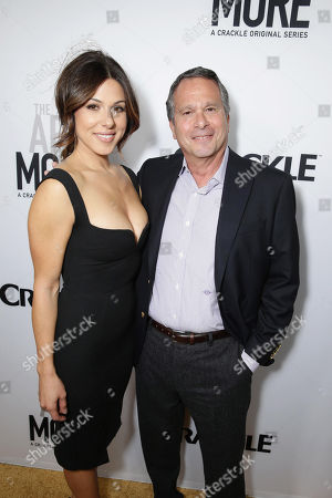 Cristina Rosato and Showrunner/Executive Producer Gardner Stern seen at Los Angeles Premiere for Crackle's 'The Art of More' at Sony Pictures, in Los Angeles, CA