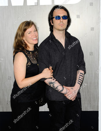 "Damien Echols and Lorri Davis arrive at the premiere of ""Men in Black 3"" at the Ziegfeld Theater on in New York"