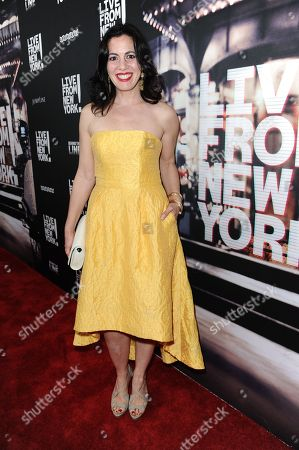 """Actress Jacqueline Mazarella arrives at theLos Angeles Premiere Of """"Live from New York!"""" held at The Landmark Theatre, in Los Angeles"""