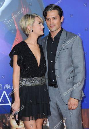 """Chelsea Kane and Stephen Colletti attend the Los Angeles premiere of """"Sparkle"""" at Grauman's Chinese Theatre, in Los Angeles"""