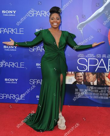 "Brely Evans attends the Los Angeles premiere of ""Sparkle"" at Grauman's Chinese Theatre, in Los Angeles"